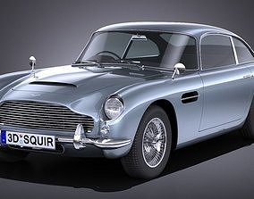 3D model LowPoly Aston Martin DB5 1963