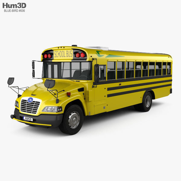 Blue Bird Vision School Bus L3 2015 | 3D model