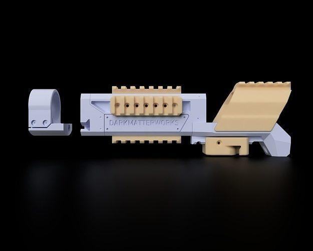 mk 23 socom tokyo marui long inner barrel handguard  3d model stl 1
