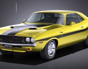 LowPoly Dodge Challenger 1970 RT 3D model