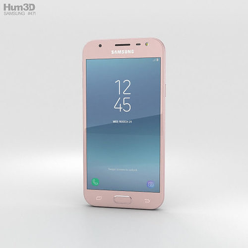 samsung galaxy j3 2017 pink 3d model max obj mtl 3ds fbx c4d lwo lw lws 1