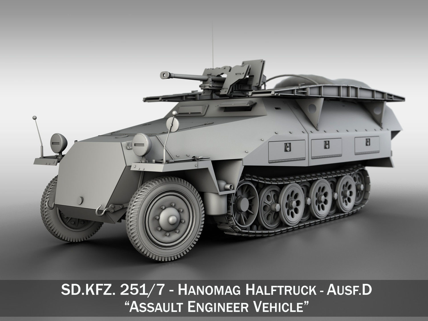 SDKFZ 251 7 Ausf D - Assault Engineer Vehicle