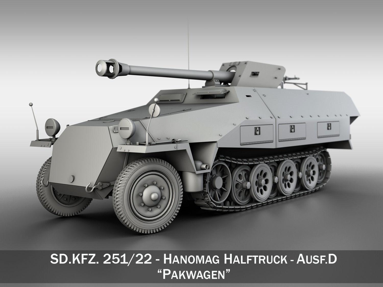 SDKFZ 251 22 - Ausf D - Pakwagen