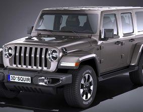LowPoly Jeep Wrangler Sahara 2018 3D asset