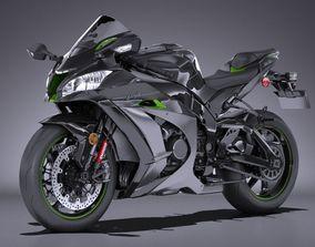 3D model Kawasaki Ninja ZX10R SE 2018