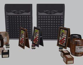 Set Adega Itens 3D model