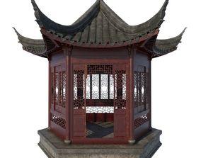 3D model Chinese Pavilion