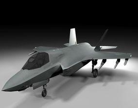F-35B Lightning II vray Lowpoly 3D model