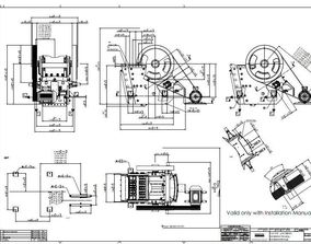 Sandvik jaw crusher CJ412 complete 3D model