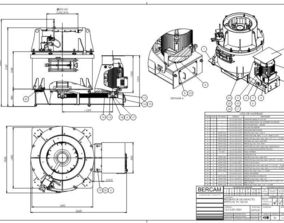 Impact Crusher VSI VS 160 SG complete set of drawings 3D