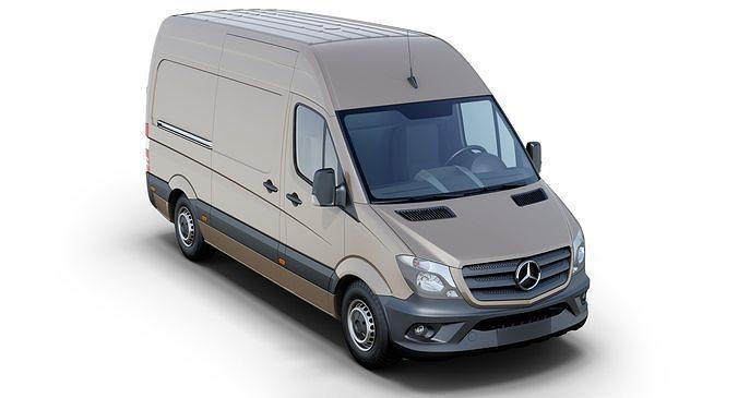 mercedes-benz sprinter 3d model max obj mtl 3ds fbx 1