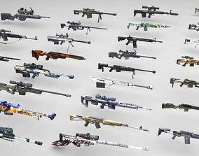 3D asset VR / AR ready Snipers Rifles Mega Pack