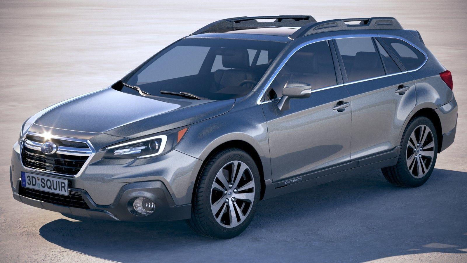 3D Model Subaru Outback 2018