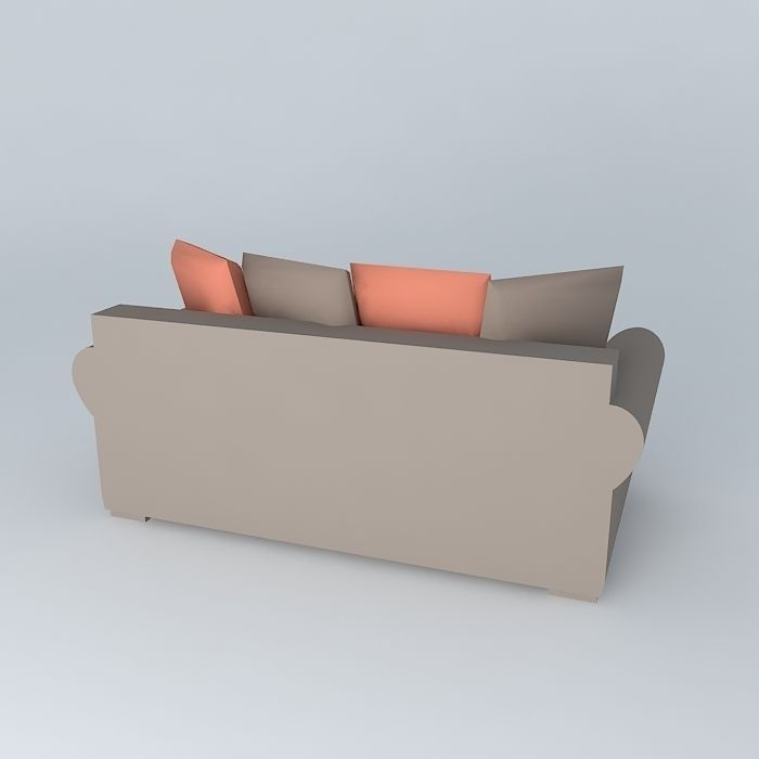 3 seat sofa bed antigua houses of the world 3d model max for Sofa bed 3d model
