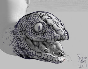 grease pencil snake 3D