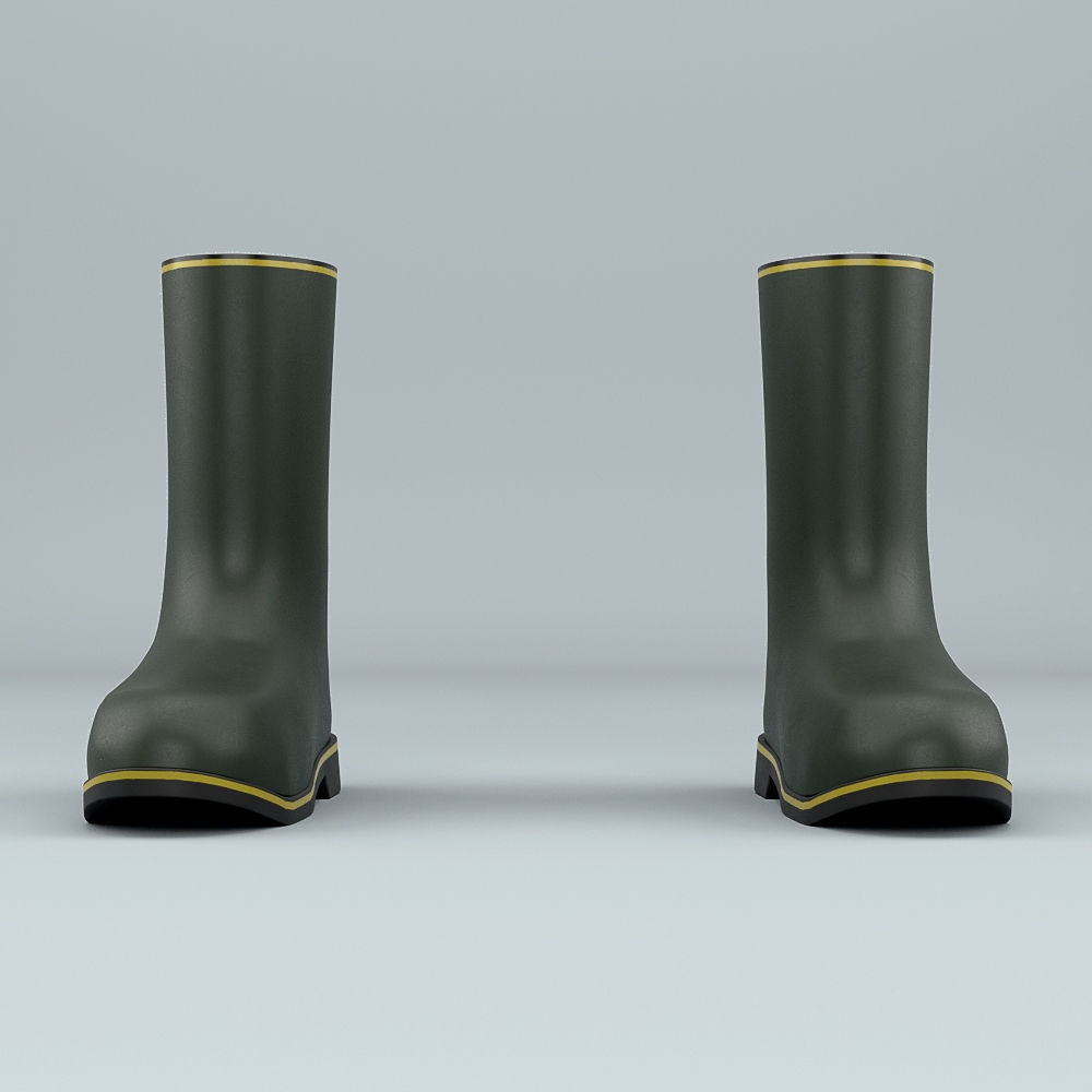 Biohazard protective rubber boots
