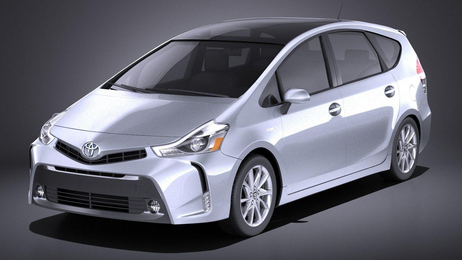 Model Toyota Prius V 2017 Vray