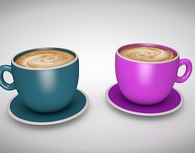 3D asset realtime Coffee Cups