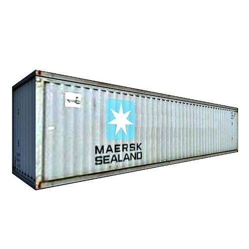 maersk container 3d model low-poly max obj mtl 3ds fbx c4d dae 1