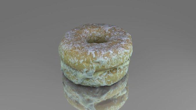 Round cake with cream