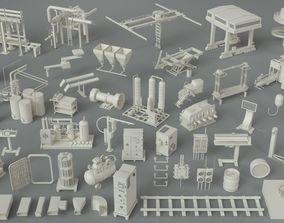 Factory Units-part-4 - 49 pieces 3D model