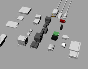 Various electronic component interfaces 3D