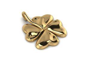 necklaces 3D printable model Shamrock Irish Leaf