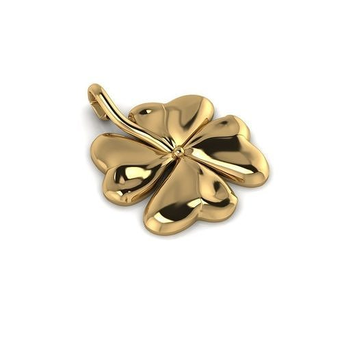 shamrock irish leaf 3d model obj mtl fbx stl 3dm dwg ply 1