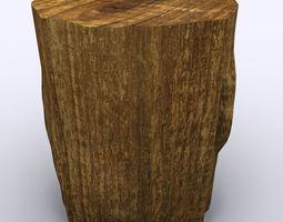 Tree Stump 3D model VR / AR ready