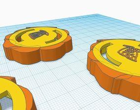 three of my custom beyblade dragon fang 3D printable model