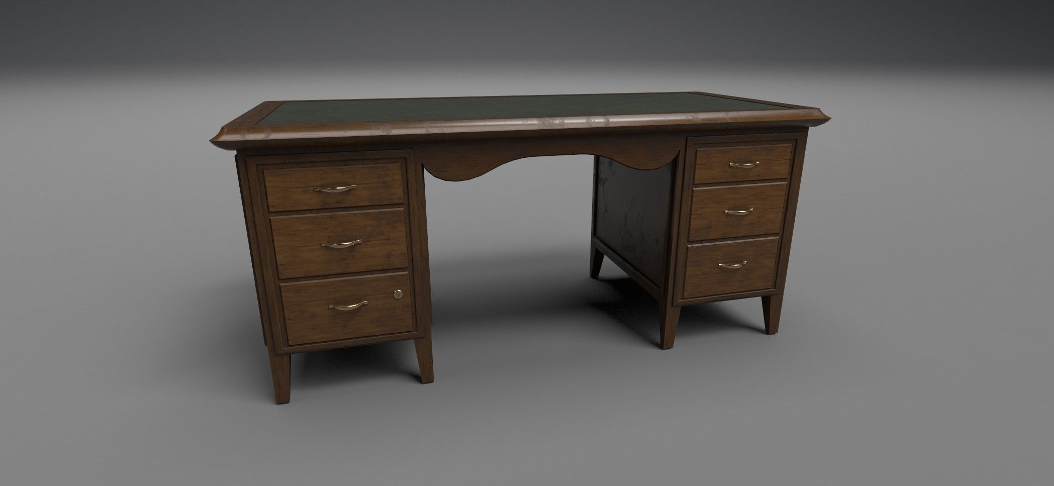 Swell Antique Office Desk 3D Model Download Free Architecture Designs Crovemadebymaigaardcom