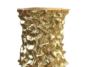 3D Stool Gold Crumpled Paper