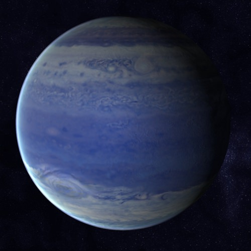 Blue Gas Giant - Pics about space