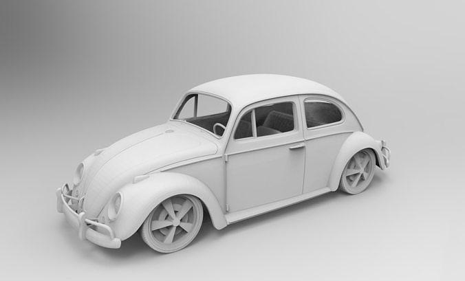 beetle fusca  stl print 3d  3d model stl 1