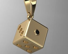 3D printable model pendant dice