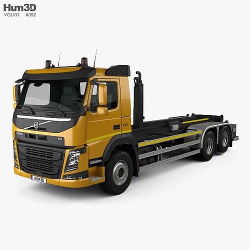 volvo fm 410 skip loader truck 2013 3d model max obj mtl 3ds fbx c4d lwo lw lws 1