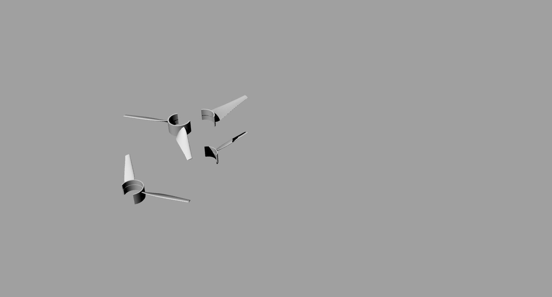 Propeller counter rotating in segments - diameter 560 mm