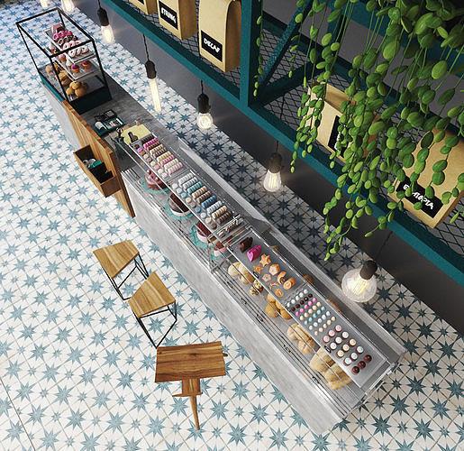 bar counter 3d model max obj mtl fbx 1