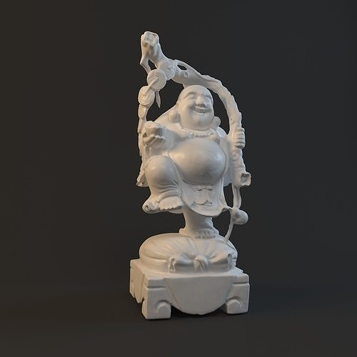 maitreya statue 3d model max obj mtl fbx stl 1