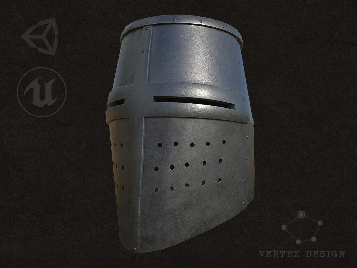 Medieval Great Helm | 3D model