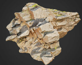 3d scanned cliff face O