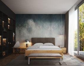 3D Modern Master Bedroom V