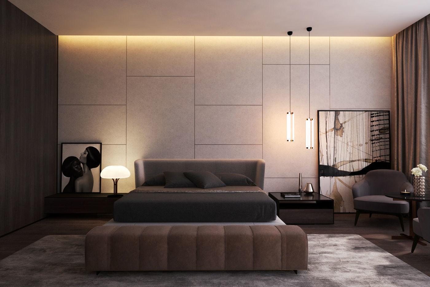 3D model Modern Master Bedroom V | CGTrader on New Model Bedroom  id=75919