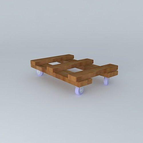 furniture dolly 3d model max obj 3ds fbx stl dae 3