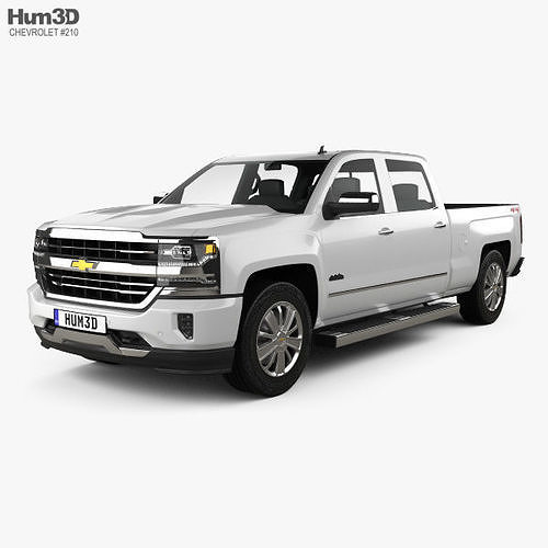 chevrolet silverado 1500 crew cab standard box high country 2017 3d model max obj mtl 3ds fbx c4d lwo lw lws 1