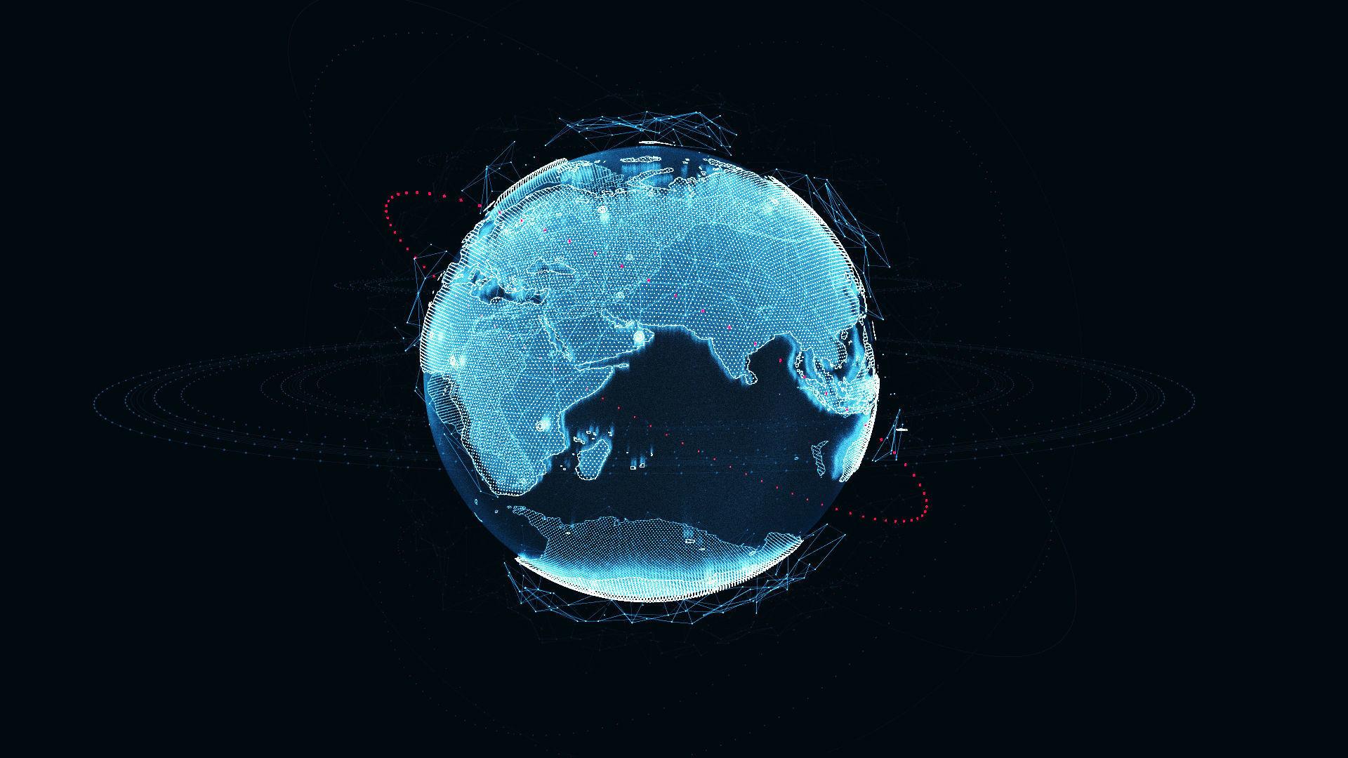 Animated Hologram Planet Earth v1