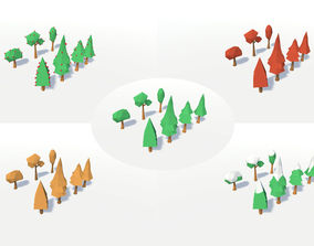 3D asset LOW POLY SEASONS TREES