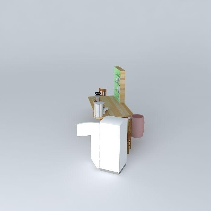 Kitchen Set Sketchup: 1950s Rural Kitchen Set Free 3D Model MAX OBJ 3DS FBX STL