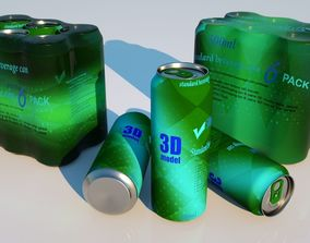 3D Can package 500ml