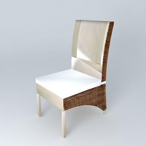chair key west maisons du monde 3d model max obj 3ds fbx stl dae 1